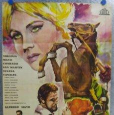 Cine: LOS MERCENARIOS. VIRGINIA MAYO, CONRADO SAN MARTIN. ILUSTRADOR EMERIO. AÑO 1961. Lote 138884398