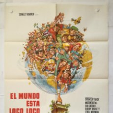 Cinéma: EL MUNDO ESTA LOCO LOCO - POSTER CARTEL ORIGINAL - SPENCER TRACY MICKEY ROONEY STANLEY KRAMER . Lote 138951886
