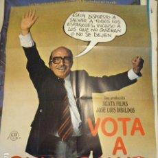 Cine: CARTEL DE CINE- MOVIE POSTER. VOTA A GUNDISALVO. Lote 138955434