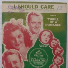 Cine: THRILL OF A ROMANCE PARTITURA 1945 VAN JOHNSON Y LA SEXY ESTHER WILLIAMS, I SHOULD CARE. Lote 139060006