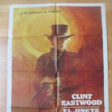 Cine: CARTEL CINE, EL JINETE PALIDO, CLINT EASTWOOD, 1985, C906. Lote 139068608