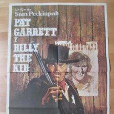 Cine: CARTEL CINE, PAT GARRETT Y BILLY THE KID, JAMES COBURN, BOB DYLAN, 1973, C880. Lote 139069077