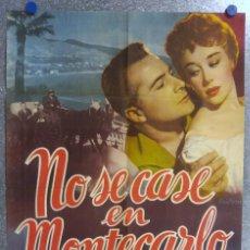 Cine: NO SE CASE EN MONTECARLO. ROSSANO BRAZZI, GLYNIS JOHNS ESTRENO. Lote 139075614