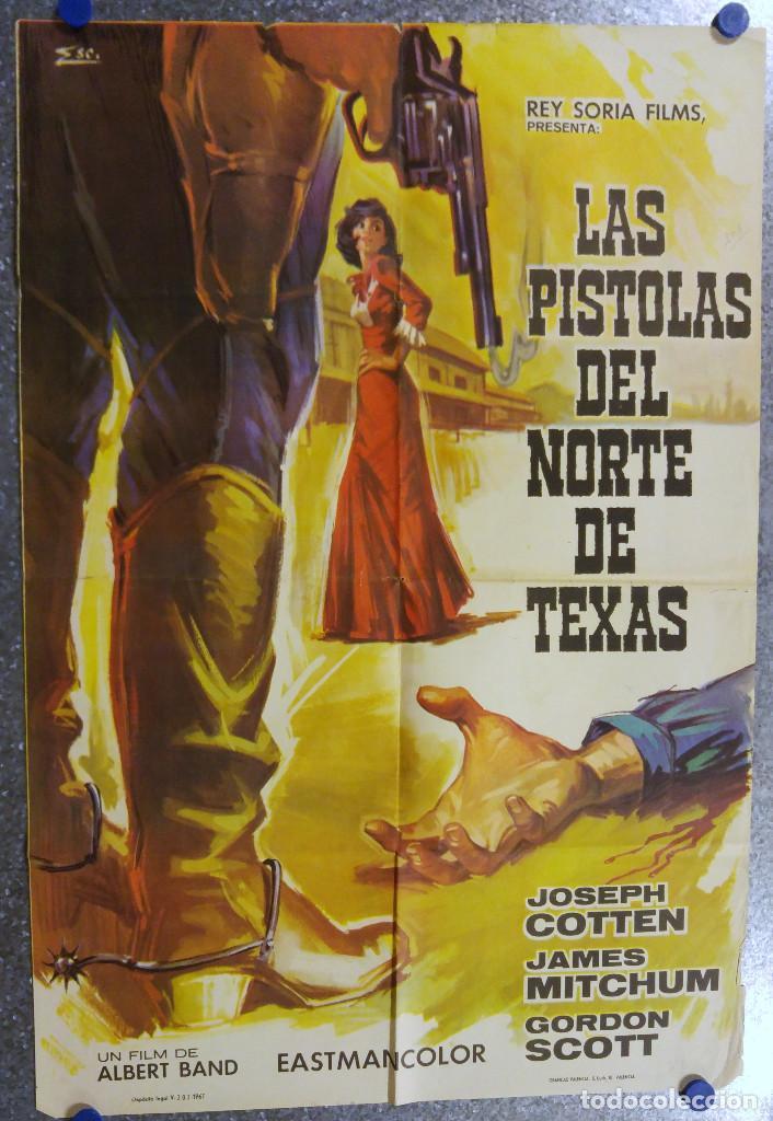 LAS PISTOLAS DEL NORTE DE TEXAS. JOSEPH COTTEN, JAMES MITCHUM. AÑO 1967 (Cine - Posters y Carteles - Westerns)