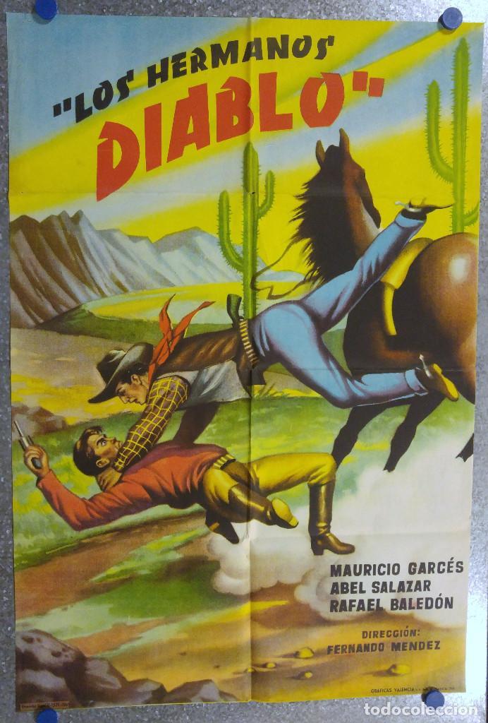 LOS HERMANOS DIABLO. ABEL SALAZAR, MAURICIO GARCES, RAFAEL BALEDON. AÑO 1961 (Cine - Posters y Carteles - Westerns)