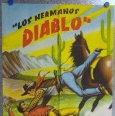 Cine: LOS HERMANOS DIABLO. ABEL SALAZAR, MAURICIO GARCES, RAFAEL BALEDON. AÑO 1961. Lote 139079514