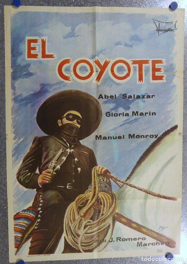 EL COYOTE ABEL SALAZAR. ABEL SALAZAR, GLORIA MARIN. AÑO 1968 (Cine - Posters y Carteles - Clasico Español)