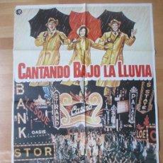 Cine: CARTEL CINE, CANTANDO BAJO LA LLUVIA, GENE KELLY, DEBBIE REYNOLDS, C1454. Lote 139185826