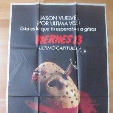 Cine: CARTEL CINE, VIERNES 13, ULTIMO CAPITULO, JASON VUELVE, 1984, C1458. Lote 139186706