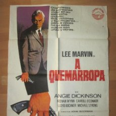 Cinéma: CARTEL CINE, A QUEMARROPA, LEE MARVIN, ANGIE DICKINSON, JANO, 1975, C1462. Lote 139191414