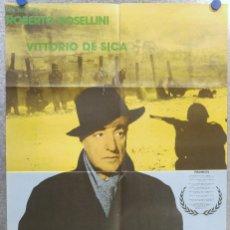 Cine: EL GENERAL DE LA ROVERE. ROSSELLIN,I DE SICA . AÑO 1983, REPOSICION. Lote 139196894