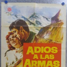 Cine: ADIOS A LAS ARMAS. ROCK HUDSON, JENNIFER JONES. AÑO 1962. Lote 139206150