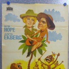 Cine: EL AMO DE LA SELVA. BOB HOPE, ANITA EKBERG. AÑO 1964. Lote 139210990