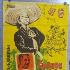Cine: CUANDO MEJICO CANTA. FERNANDO SOLER, ROSITA QUINTANA - LITOGRAFIA. ESTRENO. Lote 139212838