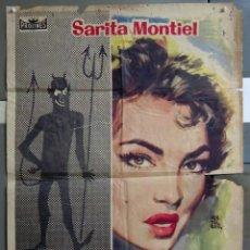 Cine: ZA52 ELLA LUCIFER Y YO SARA MONTIEL MONTALBAN POSTER ORIGINAL 70X100 ESTRENO CDO. Lote 139288526