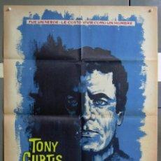 Cine: ZA20 EL SEXTO HEROE TONY CURTIS POSTER ORIGINAL 70X100 ESTRENO. Lote 139293042