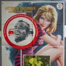Cine: ZA22 LA ESCAPADA VITTORIO GASSMAN DINO RISI CATHERINE SPAAK POSTER ORIGINAL 70X100 ESTRENO. Lote 139295274