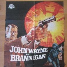 Cine: CARTEL CINE, BRANNIGAN, JOHN WAYNE, 1975, C1465. Lote 139302958