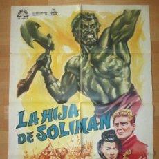 Cine: CARTEL CINE, LA HIJA DE SOLIMAN, YOKO TANI, ETTORE MANNI, 1965, C1466. Lote 139303098
