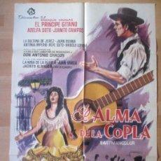 Cine: CARTEL CINE, EL ALMA DE LA COPLA, EL PRINCIPE GITANO, ADELFA SOTO, 1965, C1471. Lote 139304726