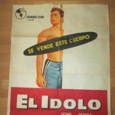 Cine: CARTEL CINE, EL IDOLO, JOHN DEREK, DONNA REED, JANO, 1958, C1475. Lote 139306310