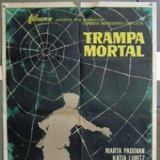 Cine: ZA48 TRAMPA MORTAL ISMAEL MERLO MARTA PADOVAN KATIA LORITZ SANTILLAN POSTER ORIGINAL 70X100 ESTRENO. Lote 139307774