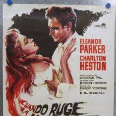 Cine: CUANDO RUGE LA MARABUNTA. CHARLTON HESTON, ELEANOR PARKER. AÑO 1966. Lote 139316522