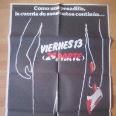 Cine: CARTEL CINE, VIERNES 13, 2ª PARTE, STEVE MINER, 1981, C1484. Lote 139420602