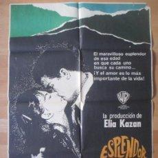 Cine: CARTEL CINE, ESPLENDOR EN LA YERBA, NATALIE WOOD, 1971, MCP, C783. Lote 139426866