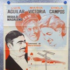 Cine: DEL RANCHO A LA TELEVISION. LUIS AGUILAR, MARIA VICTORIA, CHELA CAMPOS. AÑO 1961. Lote 139526450