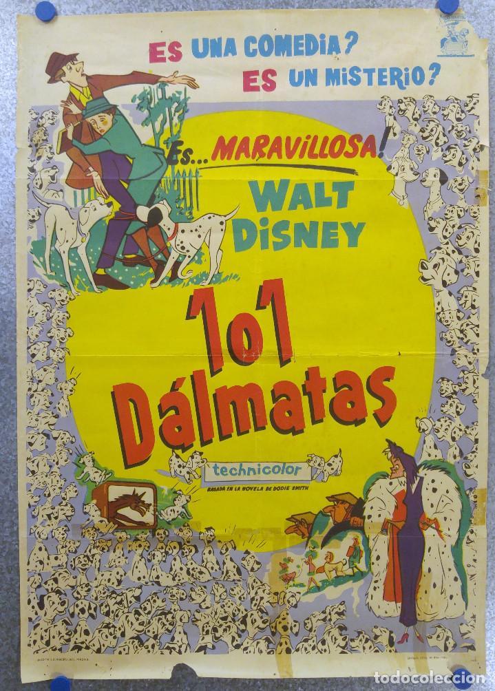 101 DALMATAS - WALT DISNEY. AÑO 1961 (Cine - Posters y Carteles - Infantil)