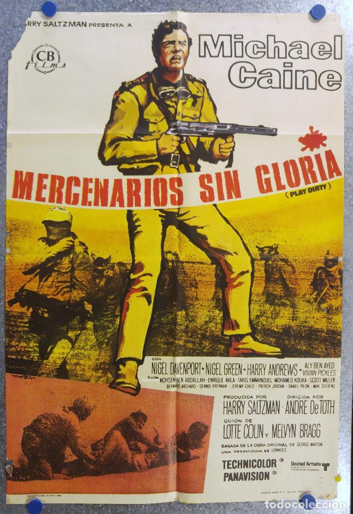 MERCENARIOS SIN GLORIA. MICHAEL CAINE. AÑO 1969 (Cine - Posters y Carteles - Bélicas)