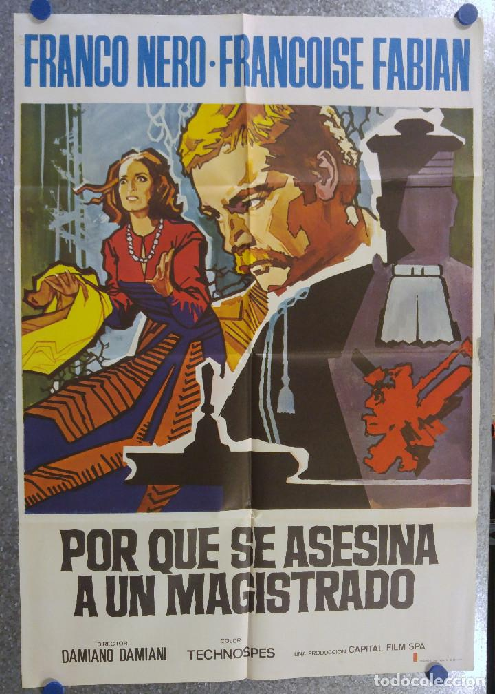 PORQUE SE ASESINA A UN MAGISTRADO. FRANCO NERO. AÑO 1975 (Cine - Posters y Carteles - Suspense)
