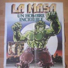 Cine: CARTEL CINE, LA MASA UN HOMBRE INCREIBLE, BILL BIXBY, LOU FERRIGNO, 1980, C1079. Lote 139832777