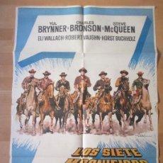 Cine: CARTEL CINE, LOS SIETE MAGNIFICOS, YUL BRYNNER, CHARLES BRONSON, STEVE MCQUEEN, 1978, MAD, C1043. Lote 139832953