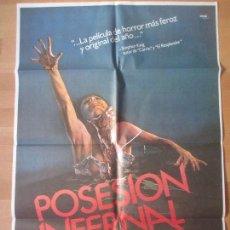 Cine: CARTEL CINE, POSESION INFERNAL, BRUCE CAMPBELL, 1983, C1141. Lote 139833093
