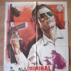 Cine: CARTEL CINE, CRIMINAL ACORRALADO FBI, JACK KELLY, RAY DANTON, MCP, 1965, C545. Lote 139834650