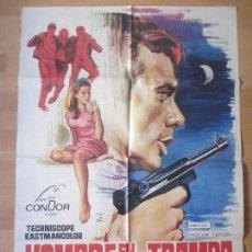 Cine: CARTEL CINE, HOMBRE EN LA TRAMPA, ANTONIO PICA, LUIS GASPAR, 1968, MONTALBAN, C631. Lote 139835144