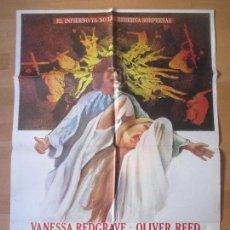 Cine: CARTEL CINE, LOS DEMONIOS, THE DEVILS, VANESSA REDGRAVE, OLIVER REED, 1978, C676. Lote 139835802