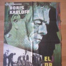 Cine: CARTEL CINE, EL DR. FRANKENSTEIN, BORIS KARLOFF, MCP, 1965, C981. Lote 139837606