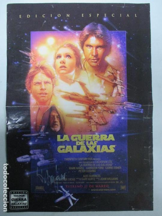 CARTEL DE CINE DE LA GUERRA DE LAS GALAXIAS FIRMADO POR HARRISON FORD. 39.5 X 28 CENTÍMETROS. (Cine - Posters y Carteles - Ciencia Ficción)