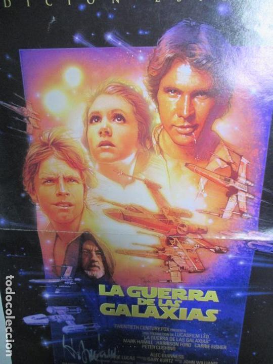 Cine: CARTEL DE CINE DE LA GUERRA DE LAS GALAXIAS FIRMADO POR HARRISON FORD. 39.5 X 28 CENTÍMETROS. - Foto 4 - 139942222