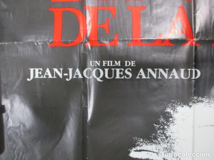 Cine: CARTEL EL NOMBRE DE LA ROSA. FIRMADO POR SEAN CONNERY, F. MURRAY Y JEAN JACQUES ANNAUD. 97 X 68 CM - Foto 3 - 139942674