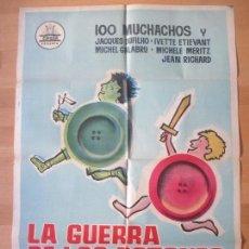 Cine: CARTEL CINE, LA GUERRA DE LOS BOTONES, 100 MUCHACHOS Y JACQUES DUFILHO, PREMIO JEAN VIGO 1962, C964. Lote 213585096