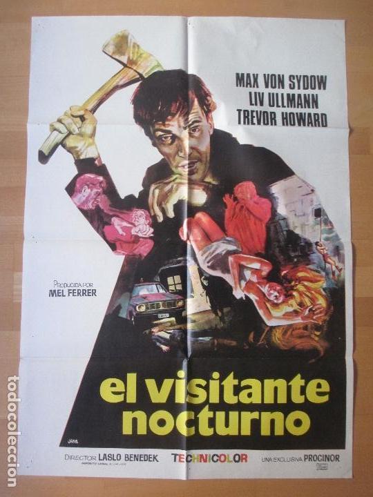 CARTEL CINE, EL VISITANTE NOCTURNO, MAX VON SYDOW, LIV ULLMANN, JANO, 1972, C398 (Cine - Posters y Carteles - Terror)