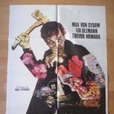 Cine: CARTEL CINE, EL VISITANTE NOCTURNO, MAX VON SYDOW, LIV ULLMANN, JANO, 1972, C398. Lote 139985186