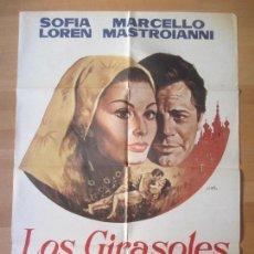 Cine: CARTEL CINE, LOS GIRASOLES, SOFIA LOREN, MARCELLO MASTROIANNI, JANO, C1242. Lote 139986913