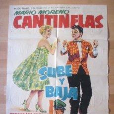Cine: CARTEL CINE, SUBE Y BAJA, CANTINFLAS, MARIO MORENO, 1959, C1217. Lote 139988100