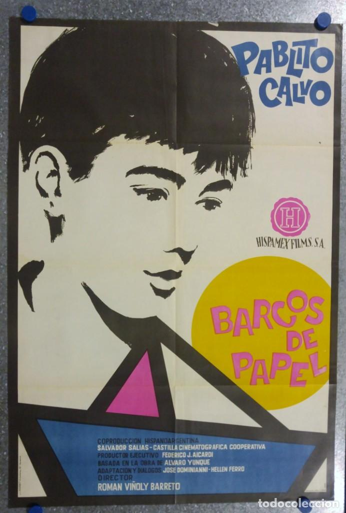 BARCOS DE PAPEL.PABLITO CALVO. AÑO 1962 (Cine - Posters y Carteles - Clasico Español)