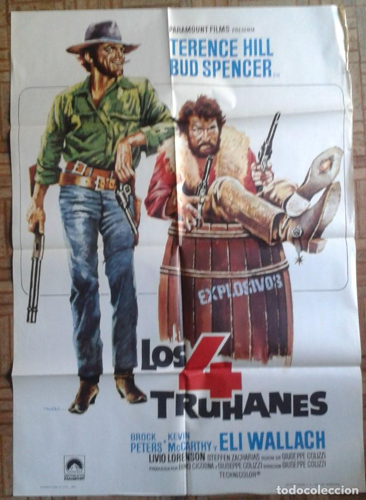 LOS 4 TRUHANES. TERENCE HILL, BUD SPENCER (Cine - Posters y Carteles - Westerns)
